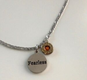 Handcrafted Bullet Casing Necklace Pendant Fearless