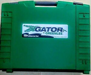 Greenlee E12ccxl12 Gator Battery powered 12 Ton Ccx Tool With 18 volt Charger