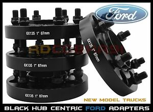 4 Pc 2015 2020 Ford F150 Raptor Expedition 1 Black Hub Centric Wheel Spacers