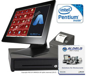 Pos System Pentium 4gb 64gb Ssd Restaurant Bakery Bar Aldelo pro Software New