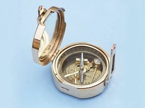 Brass Compass Brunton Compass Antique Vintage Style Gift Pocket Transit Compass
