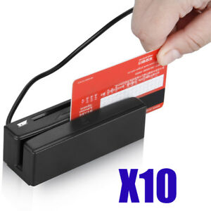 10x2 In1 Multi functional Usb3 Track Magnetic Card Reader ic Card Reader writer