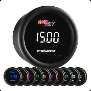 Glowshift 10 Color Digital Pyrometer Egt Gauge Glow Shift Gs Tcd08