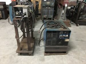 Miller Cp 302 Dc Mig 220 440 Volt 3 Phase Welder And Pro Fax Pro 4 Feeder