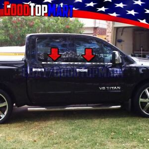 For Nissan Titan Crew Cab 2004 2013 2014 2015 4pc Window Sill Steel Chrome Cover