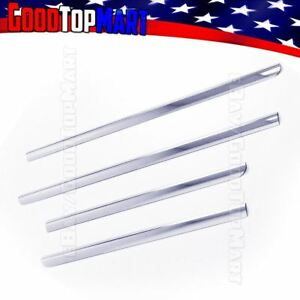 For Chevy Tahoe 2000 2002 2003 2004 2005 2006 4pc Window Sill Steel Chrome Cover