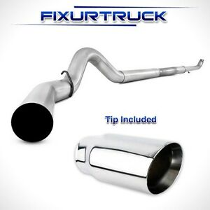 Mbrp 5 Exhaust For 01 10 Chevy gmc Duramax 6 6l No Muffler With Tip