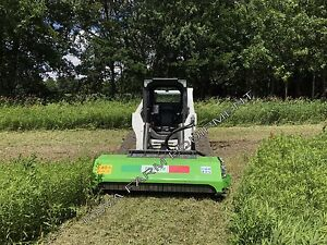 Skidsteer Flail Mower Peruzzo Ss190 75 Direct Drive Cut4 dia 40gpm offsetable