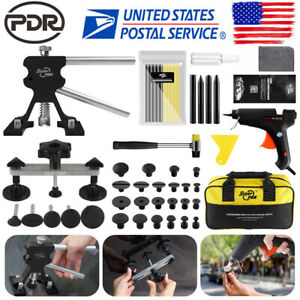 Us Pdr Tools Paintless Dent Repair Dent Puller Lifter T Bar Glue Gun Removal Kit