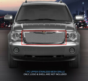 Chrome Wire Mesh Grille Upper Insert For 2007 2009 Chrysler Aspen