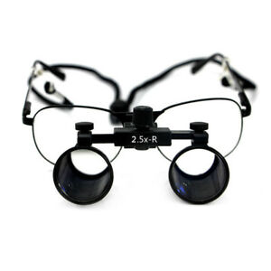 2 5x Dental Loupes Surgical Medical Binocular Optical Glass Dentist Magnifier