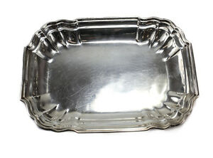 Meriden Britannia Sterling Silver Rectangular Vegetable Serving Bowl In Windsor