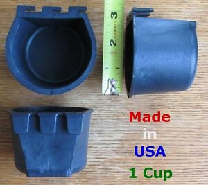 Bulk Cage Cups 1 Case 360pcs Black 1 Cup 8 Fl Oz Hanging Feed Water Cage Cup