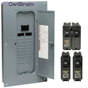 Breaker Box 100 Amp 20 space 40 circuit Indoor Main Plug on Neutral Load Center