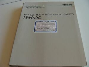 Anritsu Mw910c Optical Time Domain Reflectometer Otdr Service Manual