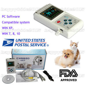 Vet veterinary Hand held Pulse Oximeter With Vet Probe Software battery