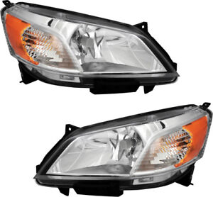 Halogen Headlights Headlamps W bulb New Pair Set For 13 14 15 16 17 Nissan Nv200