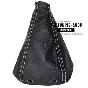 For Saab 9 3 2003 Shift Boot Black Leather Grey Stitching