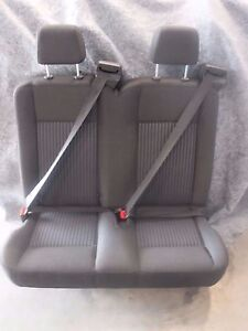 Ford Transit Oem Seat Charcoal black Cloth 36 Dual Pass w Hardware Universal