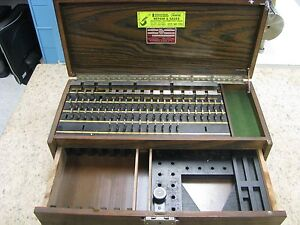Starrett Webber Hd84a1ss Heavy Duty Gage Block Set Steel Et25