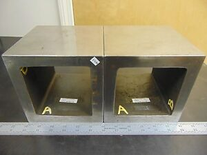 Pair Suburban Taft Pierce Box Angle Irons 6x6x6 No Openings Fn50