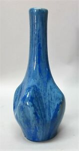 Fine Pierrefonds Crystalline French Art Deco Pottery Vase C 1930 Antique