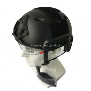 Emerson Tactical Airsoft Paintball Fast Helmet PJ Type w Protective Goggles BK