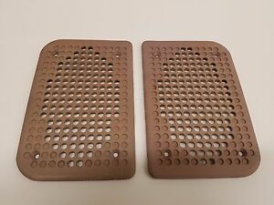 Porsche 944 Speaker Grill Grille Pair Door Light Grey Beige Linen