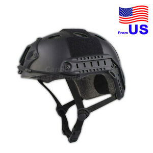 Fast PJ Style Tactical Airsoft Helmet Without Goggles Low Price Black USA $29.69