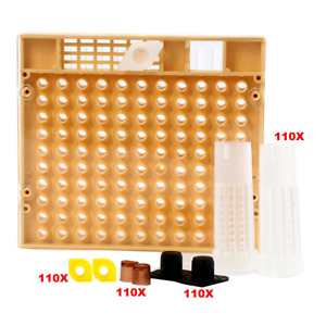 Yaekoo Queen Rearing Cup Kit Bee Keeper Tools Apiculture Box Set 110x Hair
