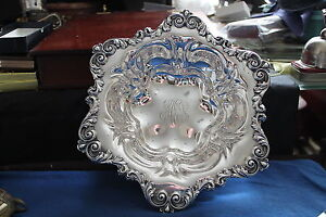 Beautiful Sterling Silver Serving Bowl By Meriden Brittania Co