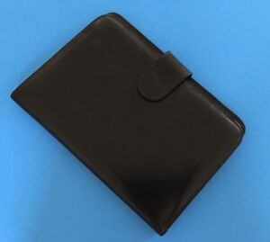 Nwt Bosca Old Leather Address Book Weekly Minder Agenda Planner Black 3