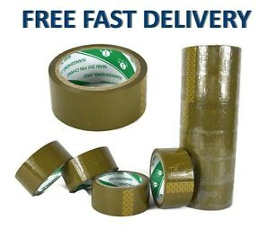 Large Brown 50m Sellotape Packing Tape Parcel 45mm Extra Wide Celotape Roll Big