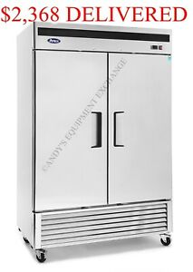 Locking Two 2 Door Bottom Mount Compressor Restaurant Cooler Refrigerator Nsf