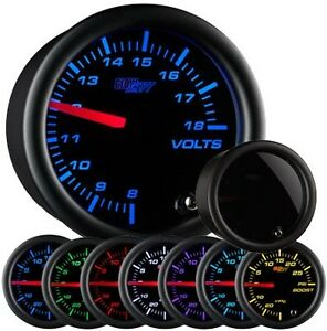 Glow Shift Tinted 7 Color Series Volt Gauge Gs T705 Glowshift Voltage Meter