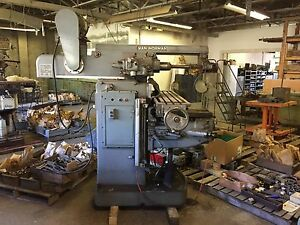 Milling Machine Horiz Or Vert Van Norman Excellent Condition