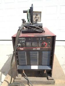 Lincoln Cv 400 Welder Mig With Wire Feeder And Profax Gun