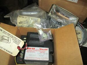 Pair Of Whelen Mini max Beam Strobe Light Clear W ups 52 Power Supply 2 Speed