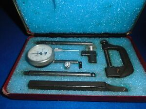 Vintage Central Tool Co 9 Piece Complete Micrometer Set No 200 W Metal Case Usa