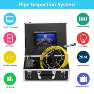 Lixada 20m Drain Pipe Inspection System Snake Camera Sewer Video Camera 7 8gb