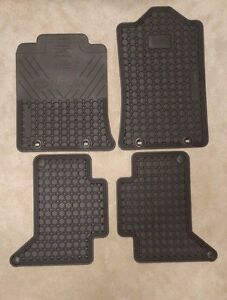 2012 2015 Oem Toyota Tacoma Double Cab All Weather 4 Piece Floor Mat Set New