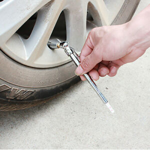 Pencil Pen Style Truck Auto Vehicle Car Tire Pressure Gauge 10 100 Psi Air Meter