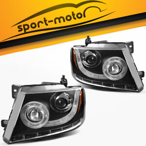 Headlights Replacement For 2004 2008 Ford F 150 Pickup Projector Headlamps Pair