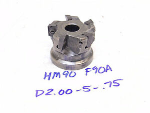 Used Iscar Carbide Indexable 2 Face Mill Hm90 F90a d2 00 5 75 adkt admt adcr
