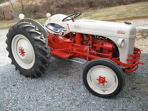 1948 8n Ford Tractor Restored To Original With Sickle Mower Hay Rake
