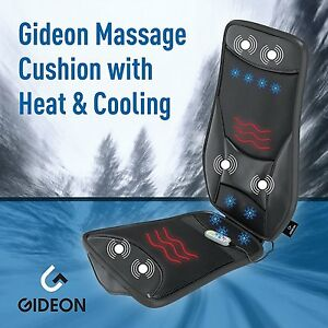 Gideon 3d Luxury Cooling Heating Massaging Seat Cushion For Car