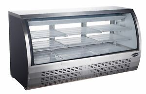 Saba 82 Commercial Deli Case display Case Refrigerator With Curved Glass