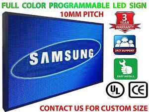12 X 38 Outdoor 10mm Digital Programmable Full Color Outdoor Led Sign Board