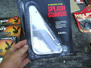 Stainless Steel Splash Guards Mud Flaps Vintage 1970 Nos Muscle Car 71 2 X 4 5 8