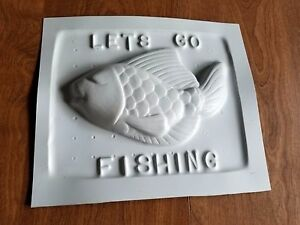 Vintage Lets Go Fishing Candy Chocolate Soap Or Beeswax Mold Honey Bee